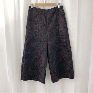 NWT ASOS floral metallic high waist culottes 8